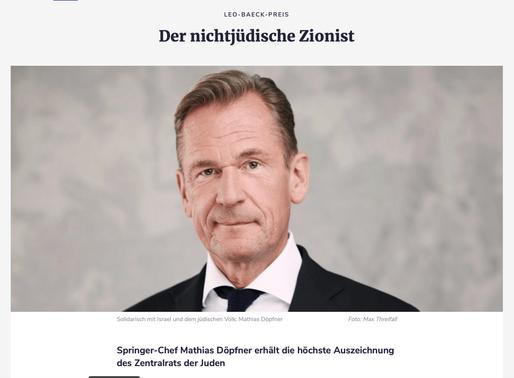 Gratulation an den Zionisten Matthias Döpfner aus Ephraim
