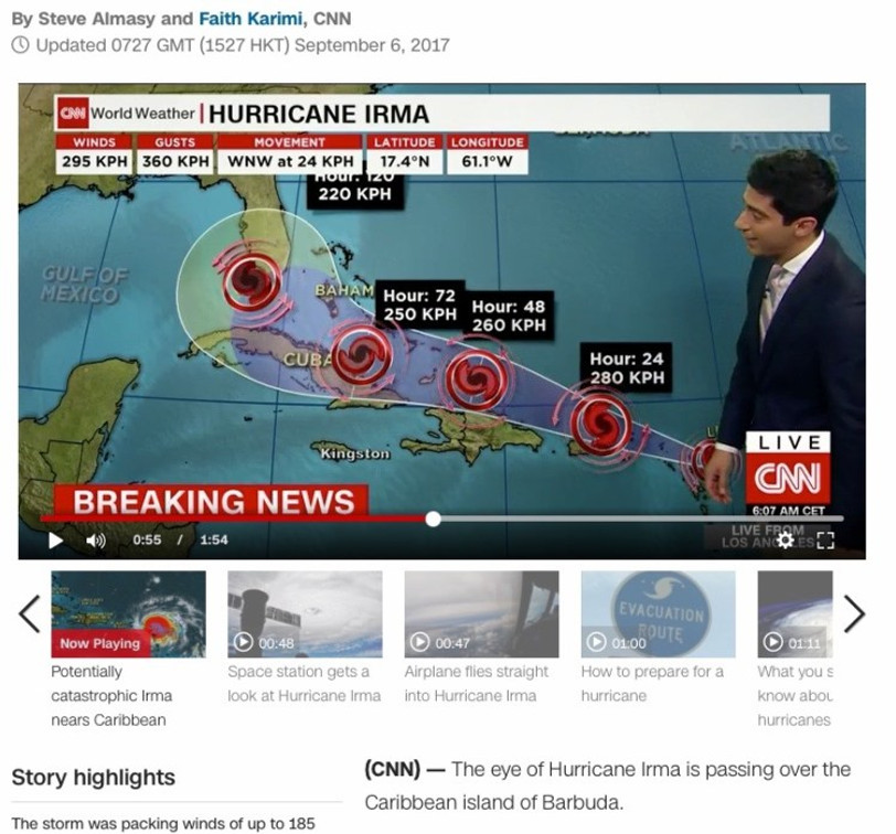 6.9.2017 - Eye of the storm Irma