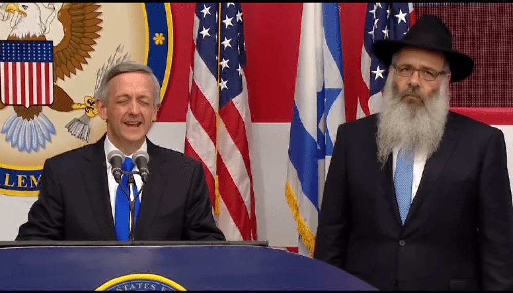 Robert Jeffress Zalman Wolowik US Emabssy Jerusalem