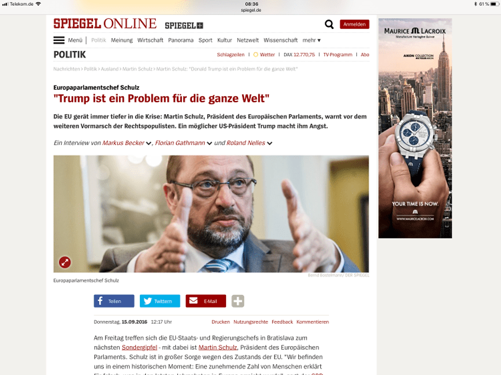 Martin Schulz Angst