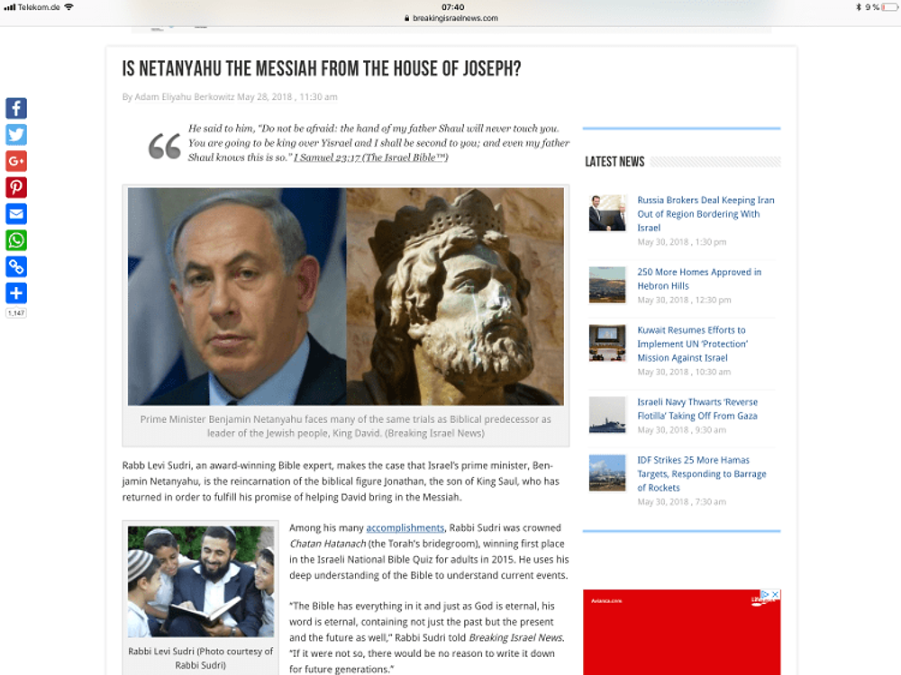 Moschiach Ben Joseph Netanjahu
