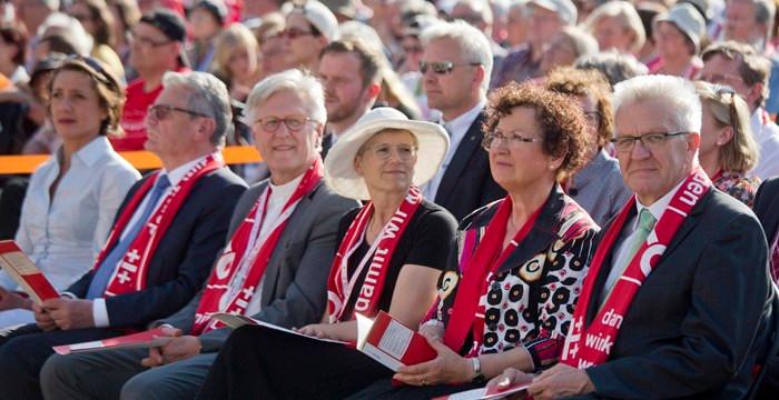 35. Deutscher Evangelischer Kirchentag Begrüßung Bundespräsifent Eröffnungsgottesdienst