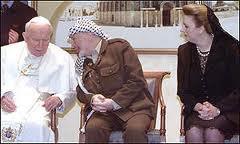 Papst und Arafat
