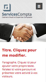 Entreprises de Services website templates – Expertise Comptable