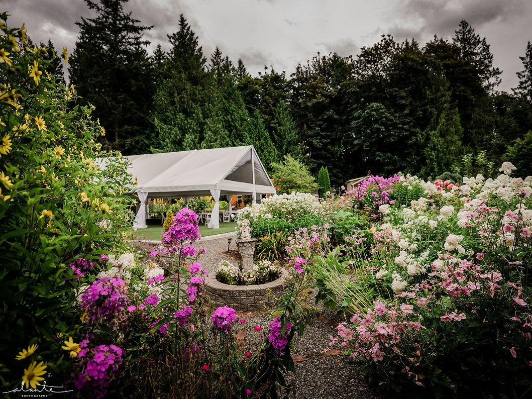 Snohomish Garden Outdoor Wedding Venue with Reception Tent