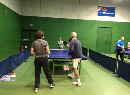 The table tennis tournament! A great afternoon!!!