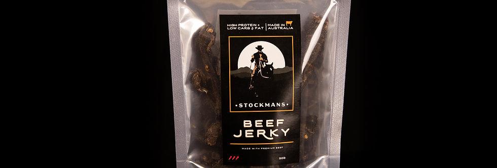 Stockmans Beef Jerky 50g HOT