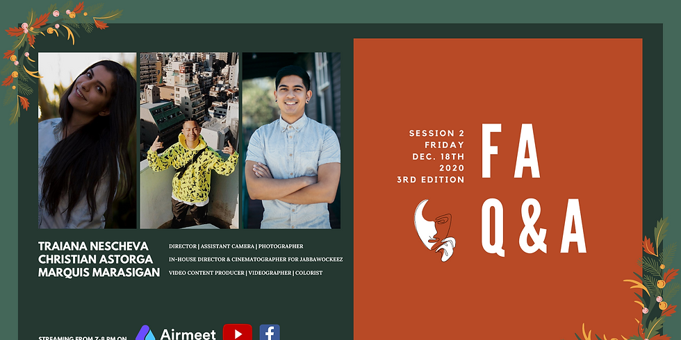 Featured Artists Q&A: Session 2 | 3rd Edition