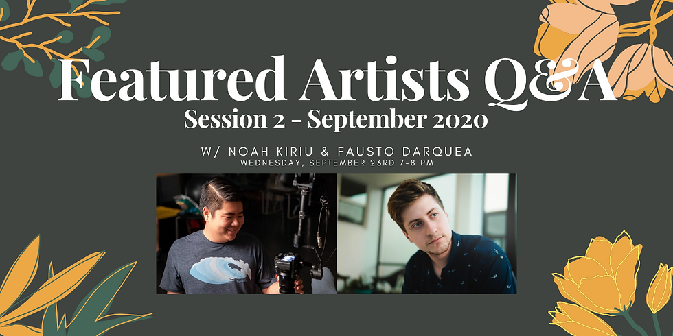 Featured Artists Q&A: Session 2 - September 2020