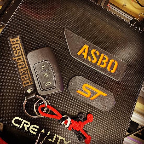Focus ST MK2 & 2.5 Wing Badges (Pair - Coloured insert)