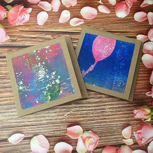 Greeting Card Set of 2 Original Artwork