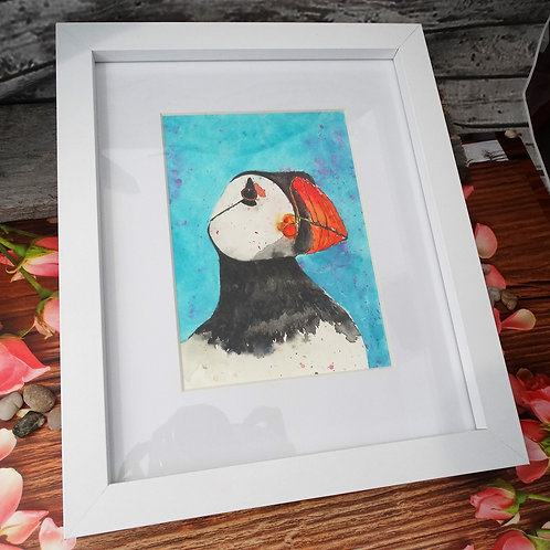 Watercolour Painting - Puffin
