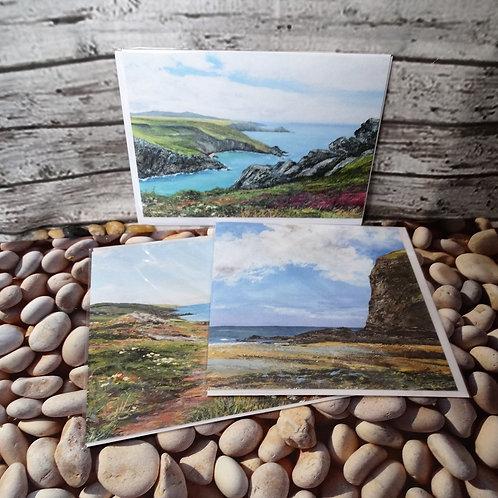Set of 3 Greeting Cards- Katy Stoneman Art