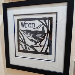 Richard Hudson - Original Unframed Woodcut Print Wren