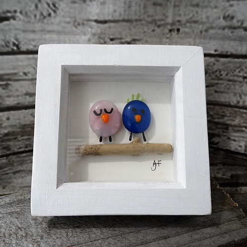 Two Birds  Glass Art