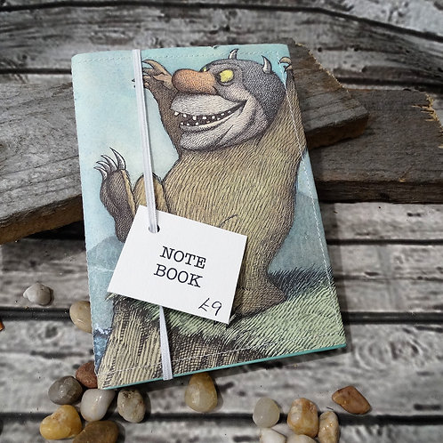 Covered Note Book - Where the wild things are