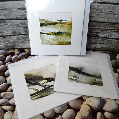 Set of 3 Any Occasion Greeting Cards - Watercolour