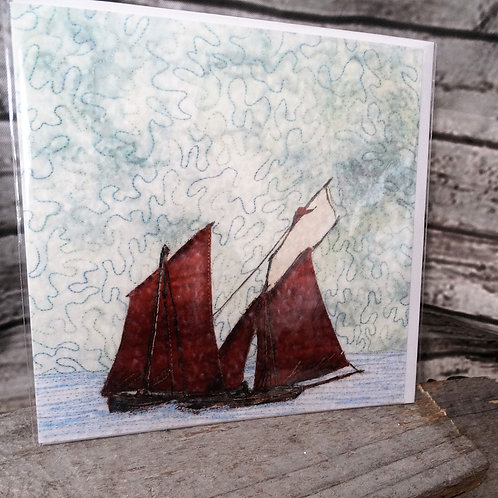 Red Sails - Printed Greeting Card