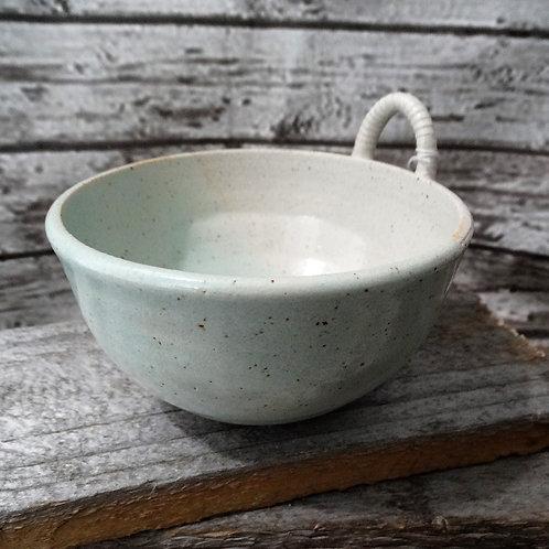 Celedon Shell Handle Bowl