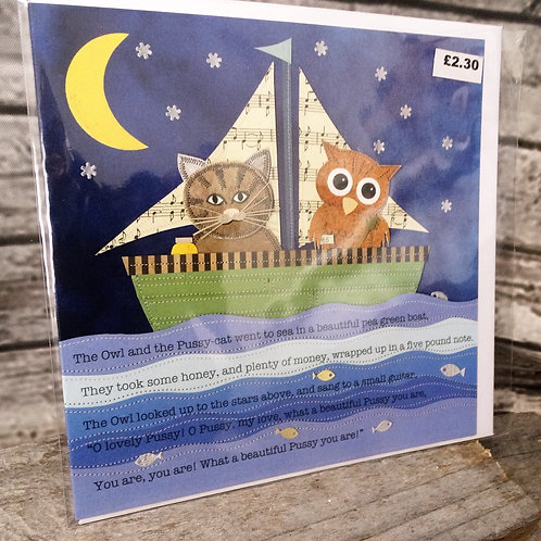 Greeting Cards- The Owl and the Pussycat