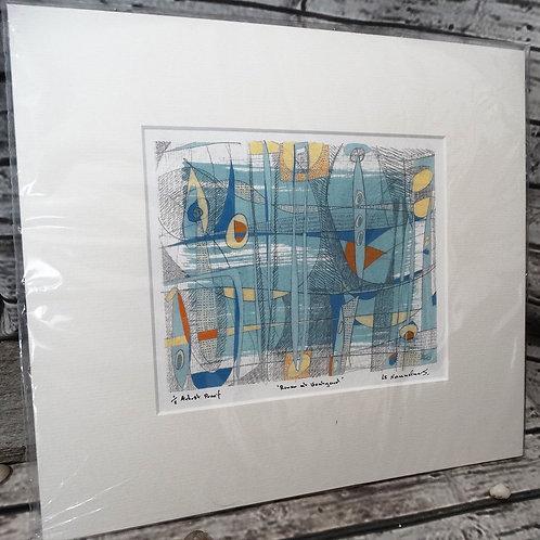 River at Boatyard Print from Original   Art