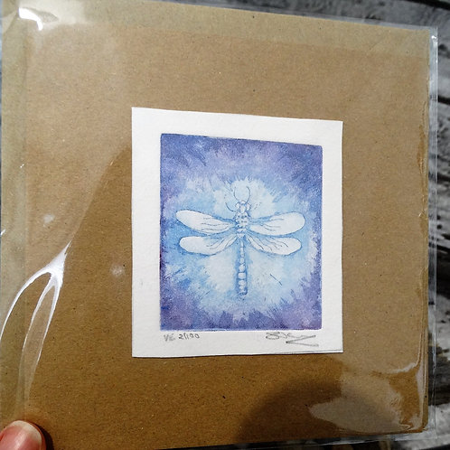 Dragonfly Etched Greeting Card