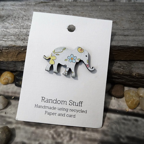 Little Elephant Floral Brooch