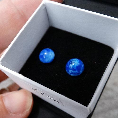 Blue Glass   Glass Stud Earrings