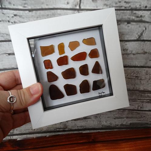 Square Sea Glass Picture