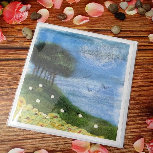 Cookworthy Knapp Coming Home Trees - Printed Greeting Card