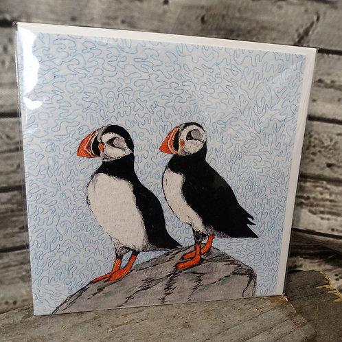 Puffin - Printed Greeting Card