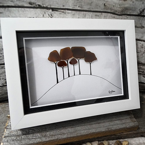 Nearly Home Trees Glass Art
