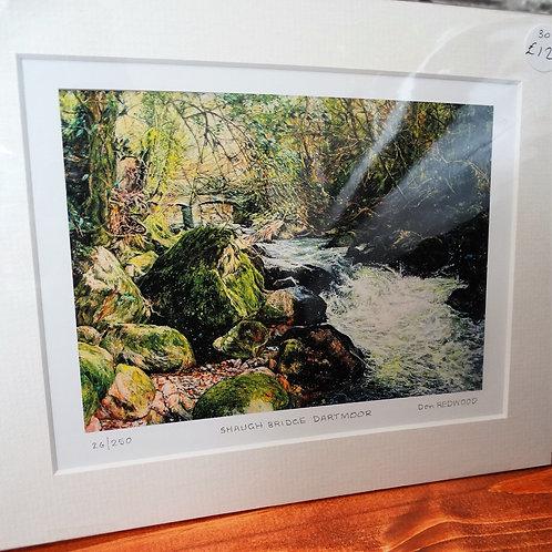 Shaugh Bridge Dartmoor Print  from Original   Art