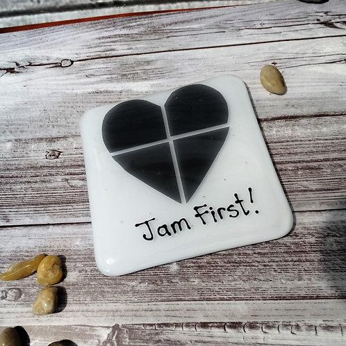 Jam First Glass Coaster Cornish