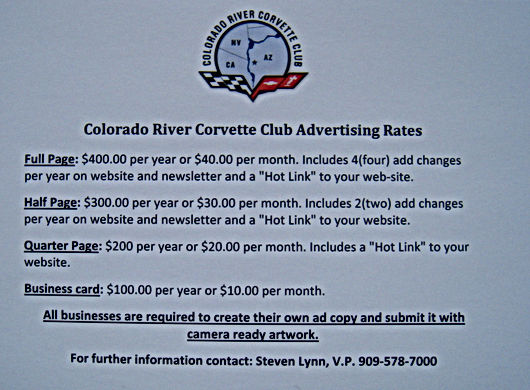 Colorado River Corvette Club Bullhead City AZ