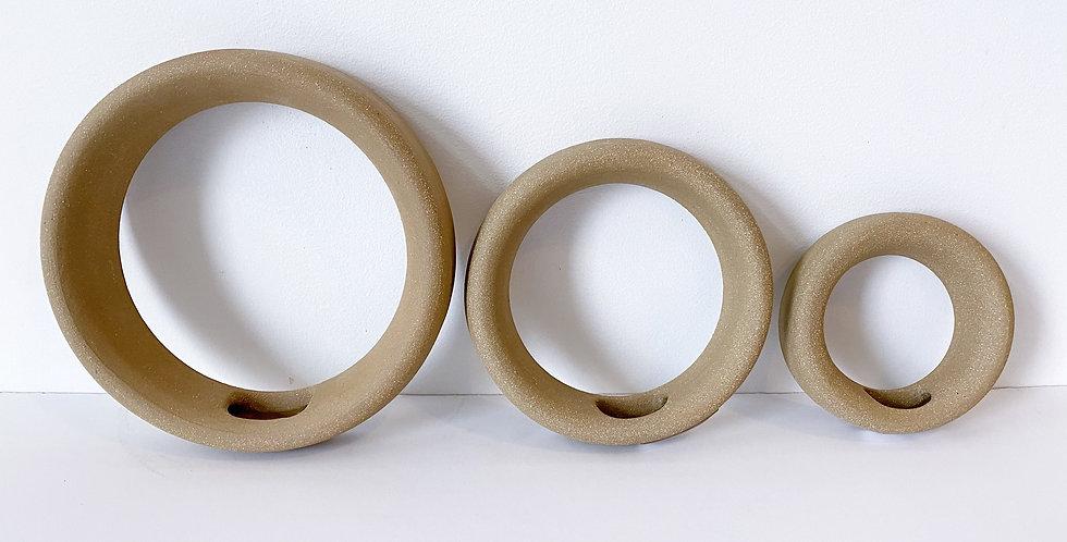 BadgerRow Ceramics Airplant Holder - Natural