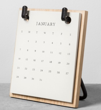 Wood Desktop Calendar Magnolia Home