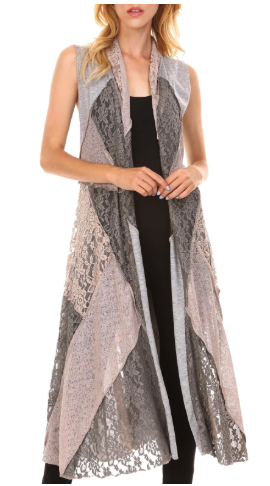 Adore long vest - this style or similar can be found at the shop.