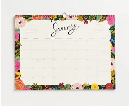 Rifle and Paper Co. Floral Wall Calendar