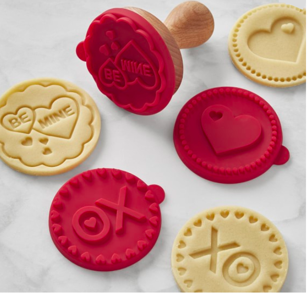 Valentine Silicone Cookie Stamps, Set of 3