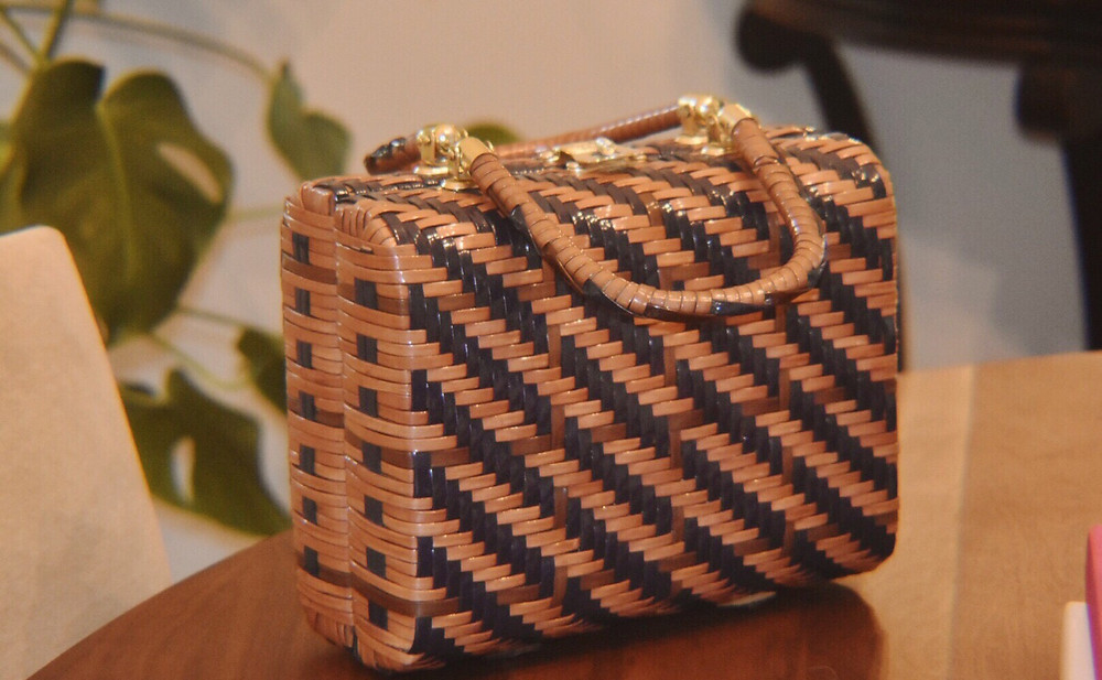 Boxy Wicker Bag