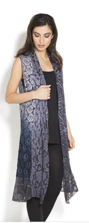 Blue Ombre Lace Vest