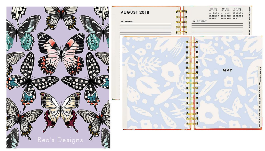 Paper Source Butterflies Custom Planner