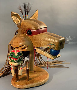 Storytelling Mask: Coyote and the Frog People