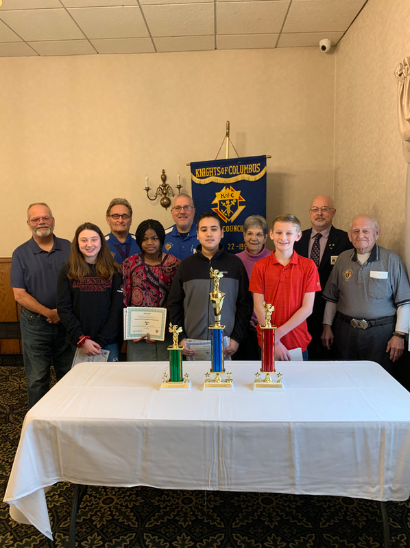 Spelling Bee Winners with bee event organizers