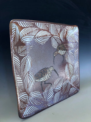 Two whimbrel Tray