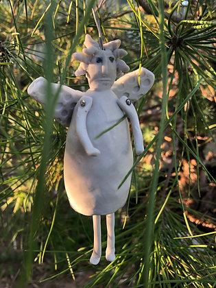 Garden angel/fairy bell ornament