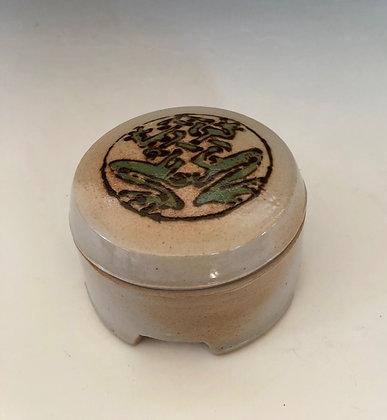 Celtic Frog Jar