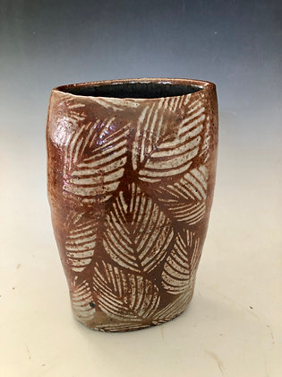 """Vase with leaves 8"""""""