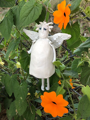 Garden angel/fairy bell ornament
